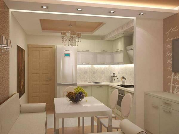 Дизайн потолка на кухне: как правильно подобрать цвет краски для потолка, чтобы оформить интерьер кухни, хитрости покраски своими руками с помощью валика, видео, фото