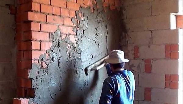 Штукатурка цементная стен 133