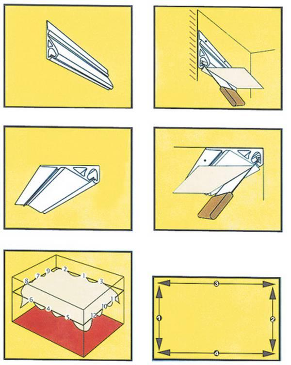 Как натянуть ткань натяжной потолок своими руками