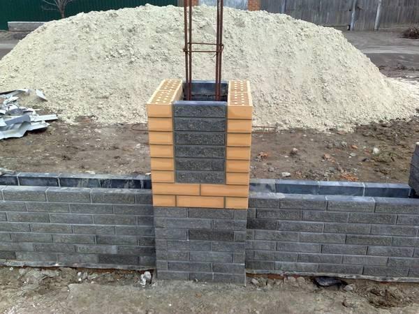 Столбы из блоков своими руками 94