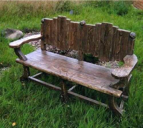 Скамейка для дачи и сада своими руками: чертежи, размеры, фото